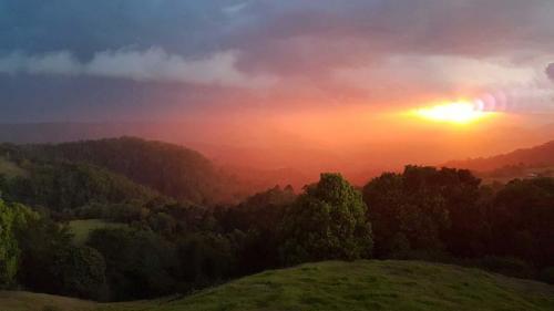 Rain and Sunset view