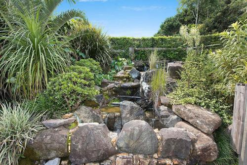 Water feature in the garden