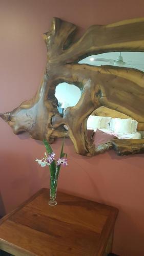 Wood art in Maple Bedroom
